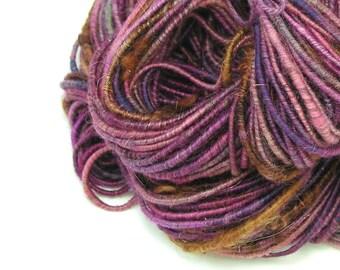 Corespun Yarn, Super Bulky Yarn, Handspun Yarn, Art Yarn, Merino Yarn, Purple Yarn, Textured Yarn, Chunky Yarn, Mixed Media - GALAXY