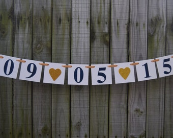 SAVE  the DATE Banner - Wedding Banner - Bridal Shower banner -Wedding sign-Photo Prop