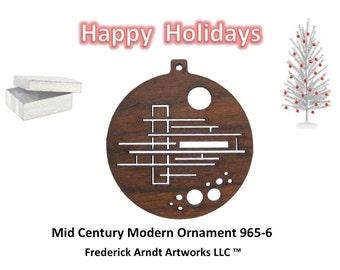 965-6 Mid Century Modern Christmas Ornament