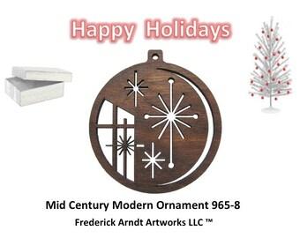 965-8 Mid Century Modern Christmas Ornament