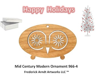 966-4 Mid Century Modern Christmas Ornament