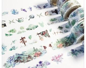 Watercolor wide washi tapes - Black Meng Spring 2016