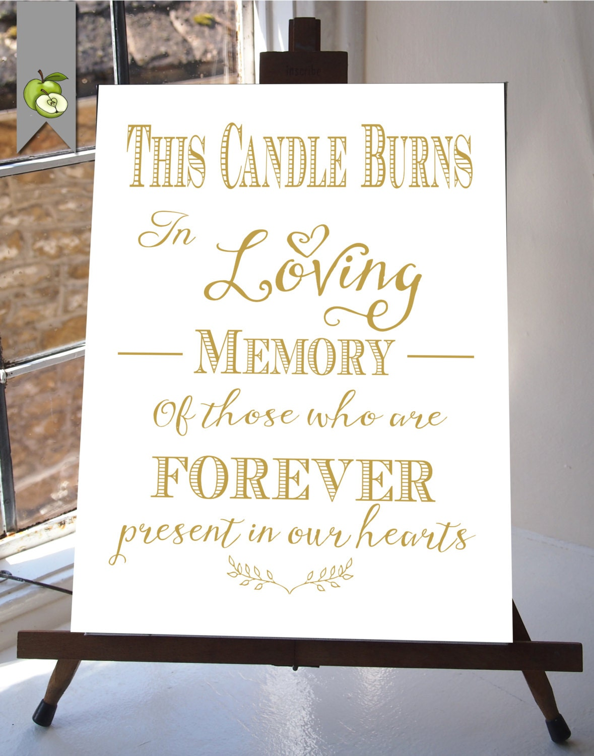 It's just an image of Dramatic This Candle Burns in Loving Memory Free Printable