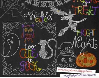Halloween Chalk clipart, Chalkboard Halloween Clipart, Halloween chalkboard clipart,  Jack o latern chalk, Halloween Wordart