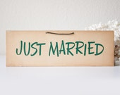 Vintage Just Married sign