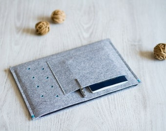 Sony Xperia Tablet Z4, Z2, Z case cover sleeve, light grey felt