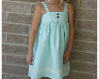Mint birthday Dress - Toddler Dress - flutter sleeves - Country dress baby  Girls Birthday Dress - Special Occasion
