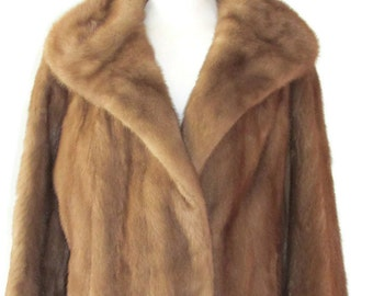 Brown mink coat | Etsy