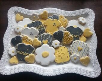 Baby Shower Sugar Cookie Platter