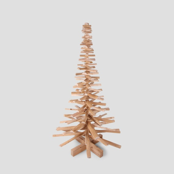Wooden christmas tree made out of cherry wood branches Christmas trees made out of wood