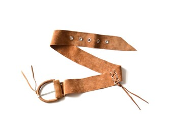 Suede Belt, Boho Belt, Leather Belt, Tan Suede Belt, Womens Suede Belt, Womens Acessories, Hippie Belt, Bohemian Belt