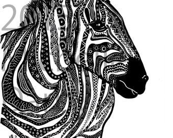 Zebra Colouring Page