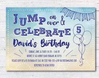Jump/Bounce Birthday Party Invitation