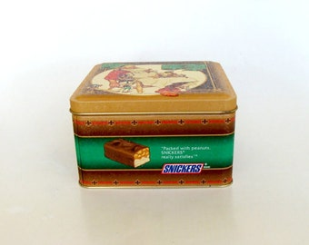 1994 Vintage Norman Rockwell Snickers tin