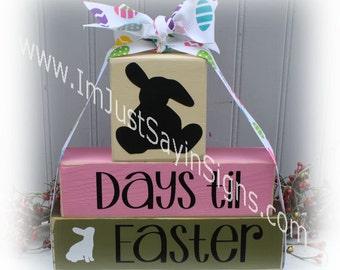 Easter Countdown Stacking Blocks