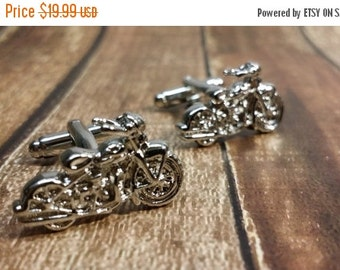 Christmas In July Sale Motorcycle Cufflinks- Mens Cuff links, Motorcycle Cufflinks with a Gift Box, Harley Davidson, Suziki, Chopper