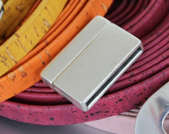 1 clasp - 30mm zamak magnetic clasp for flat leather (1 clasp) - leather supplies (ZC20)