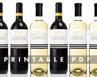 Milestone Wine Label
