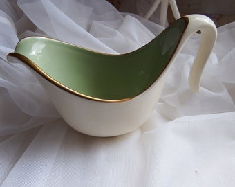 Vintage 1950s Tayler and Smith Classic Heritage Celadon Green Creamer