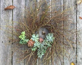 Succulent Blueberry Wreath