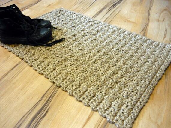 Doormat Jute Crochet Rug Floor Mat Door Mat By Magicbycrochet