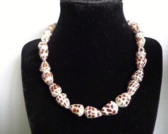 Genuine Hawaiian Hebrew Cone Shell Necklace