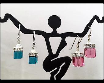 Swarovski Crystal Earrings, Wedding Jewelry,Bridal Earrings, Bridesmaids Earrings and Gifts, made with Swarovski Crystal,