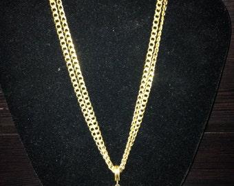 Gold Sparta 300 Roman Pendant Double-Strand Necklace - Costume Jewelry