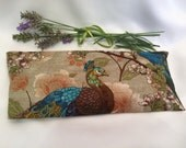 Relaxation Eye Pillow, organic lavender, heat cold pack, peacocks, meditation, yogini gift, yoga accessories, savasana, aromatherapy