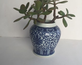 Vintange Asian Vase, blue and White Vase, japenes Vase, Porcelain Vase