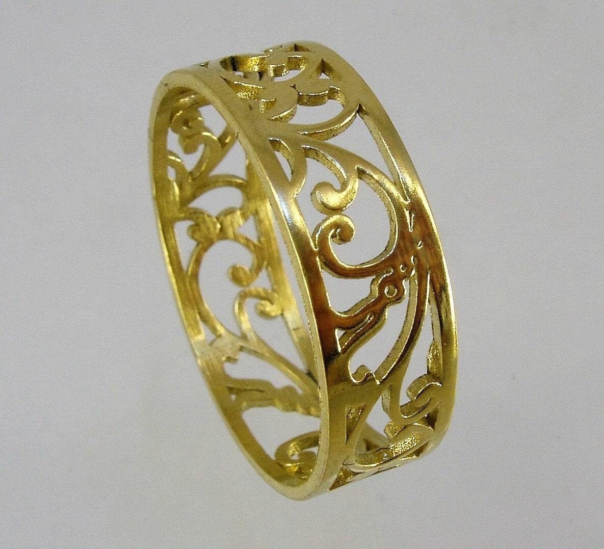 Wedding Bands womenlace ringlace bandgold ring 14kwedding