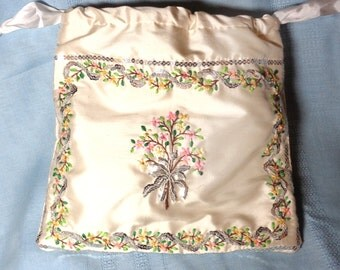 KIT - Silk and Spangles Buttercup Flowers Regency Drawstring Bag