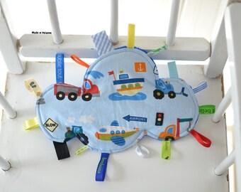 """New * Doudou étiquettes nuage bleu électrique """"sur la route"""""""