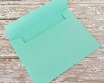 4x6 (A6) Solid Mint Green Envelopes-Mailable-Set of 10-Birthdays, Showers, Weddings, Parties