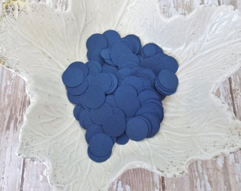 Navy Blue Paper Confetti Circles-500 Pieces-Weddings, Showers, Birthdays-1/6, 5/8, and 1.5 Inch Sizes