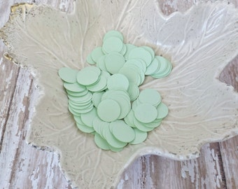 Mint Seafoam Green Paper Confetti Circles-500 Pieces-Weddings, Showers, Birthdays-1/6, 5/8, and 1.5 Inch Sizes