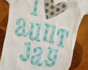 Custom appliqued, personalized onesie or T-shirt