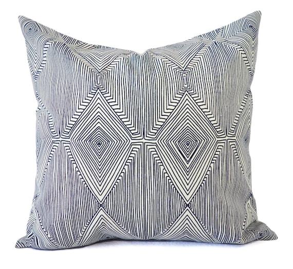 Modern Navy Pillows : CLEARANCE One Navy Modern Pillow Cover Blue Pillows