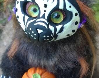 pumpkin sprite soft art doll sculpture creature critter