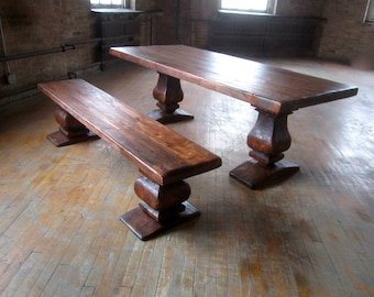 Old Master's Double Pedestal Dining Table