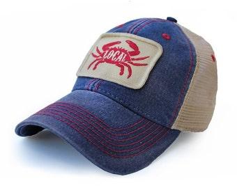 Everyday Trucker Hat Local Seafood, Deep Ocean Blue