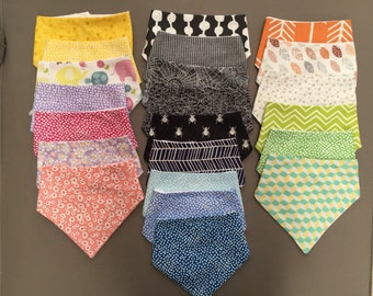 3 x Bandana Bibs your choice of colour and design