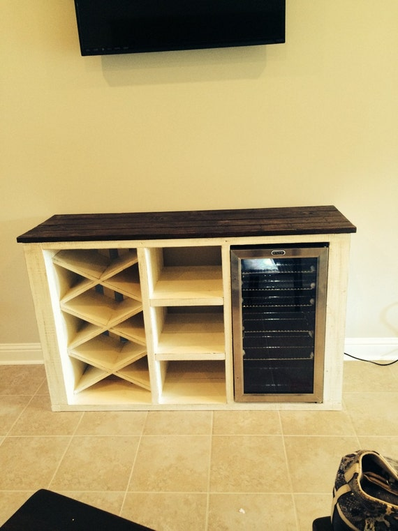 Buffet With Wine Rack And Storage For Wine Cooler