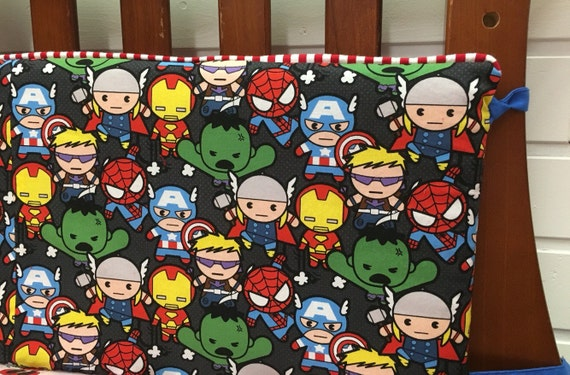 Baby Crib Bedding Superhero Crib Bumpers By Glitterthread On Etsy