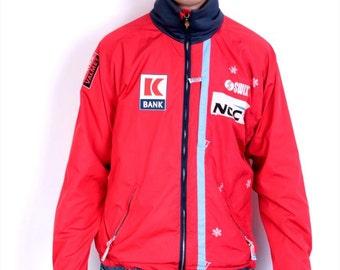 Swix Mens L Jacket NCC Red Sport Mesh Breathable