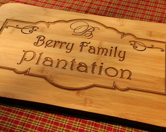 Create your own - Personalized Bamboo Cutting Board