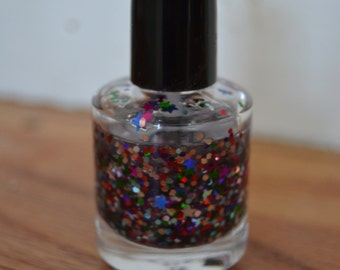You're a Star~ Indie Handmade Nail Polish ~ 5 Free, Custom Blended Glitter Polish