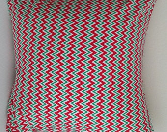 Christmas pillow Covers 18X18 - Christmas pillow cover red green chevron pillow cover