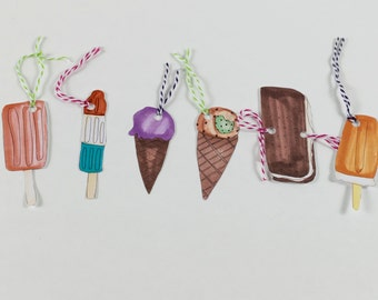SALE Ice Cream Tags! 75% OFF!