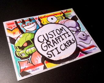 Custom Graffiti Sticker Pack